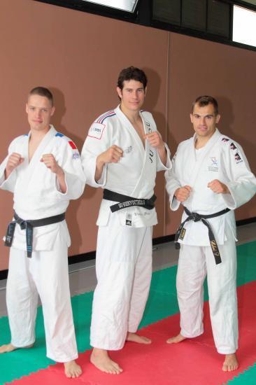 Sébastien Broux, Vincent Parisi Champion du Monde Jujitsu et Sébastien Hubert